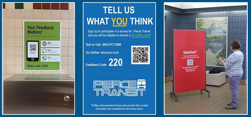 Transit Signs for Passenger Feedback