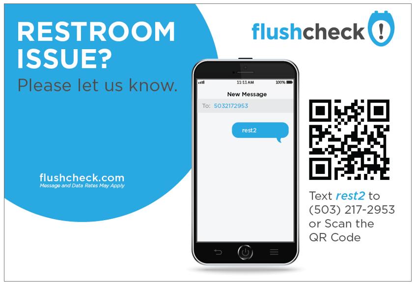 Restroom feedback signage