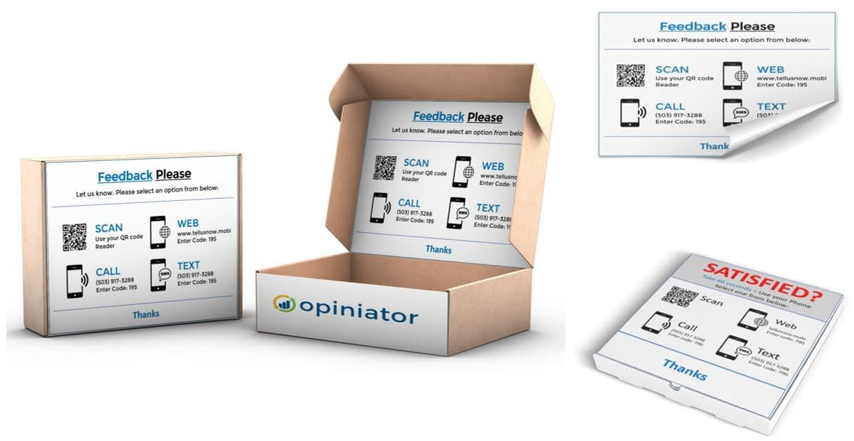 Customer feedback on packaging