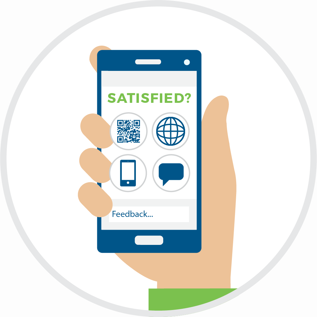 Delivering customer feedback with the cell phone