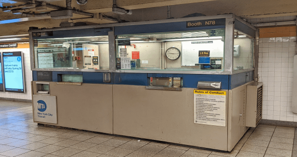Transit station ticket booth