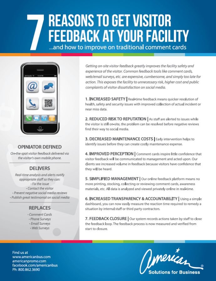 American Solutions Visitor Feedback for Facilities
