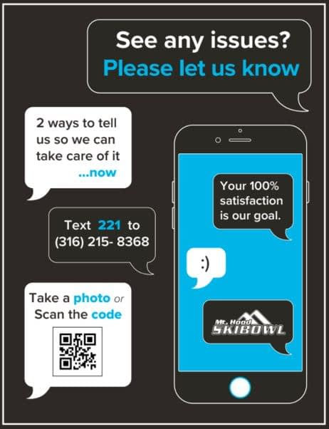Skier feedback request poster