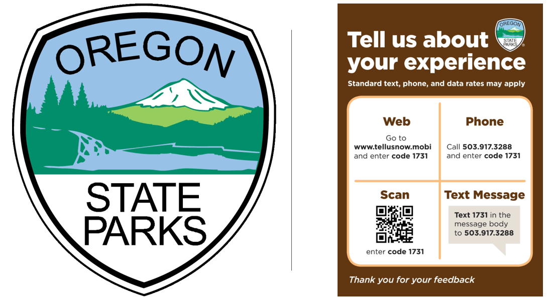 Oregon parks collect visitor feedback with the cell phone