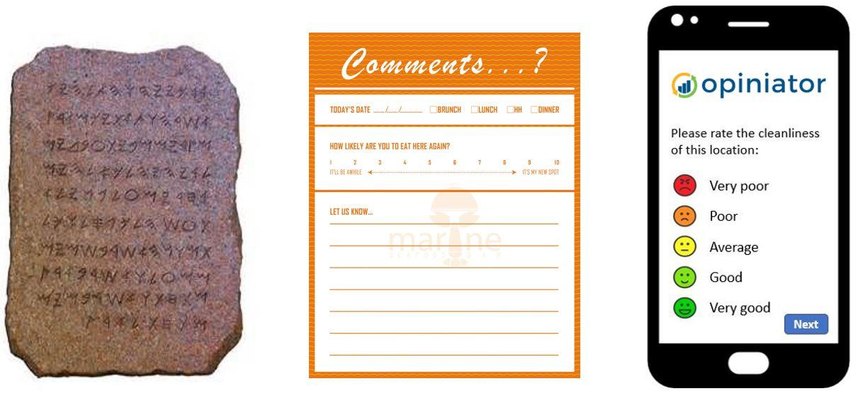 Customer comment card evolution