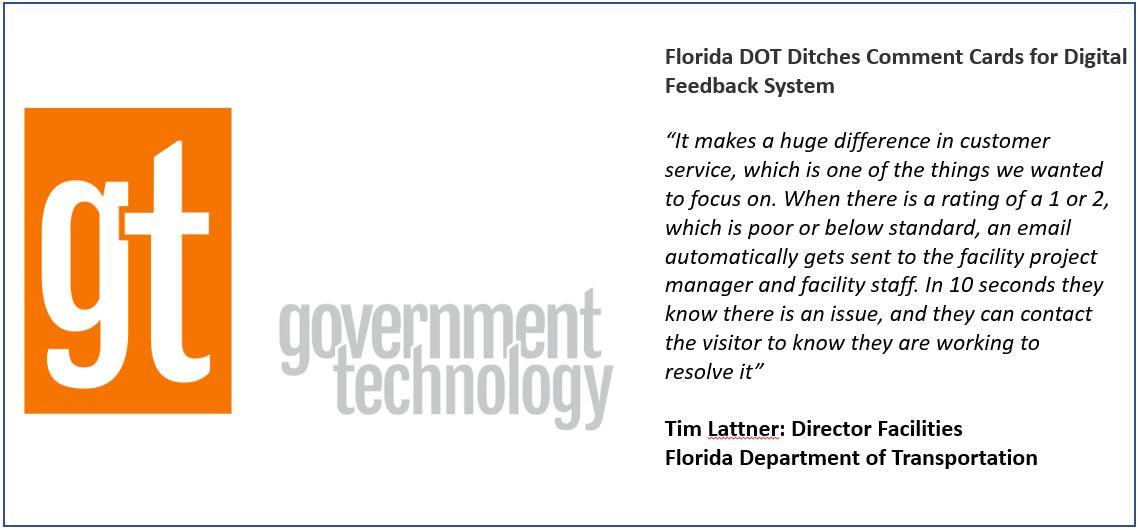 Florida Rest area visitor feedback using Opiniator