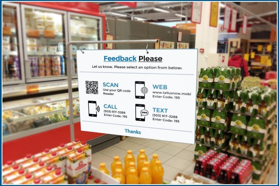 In store request for shopper feedback hanger