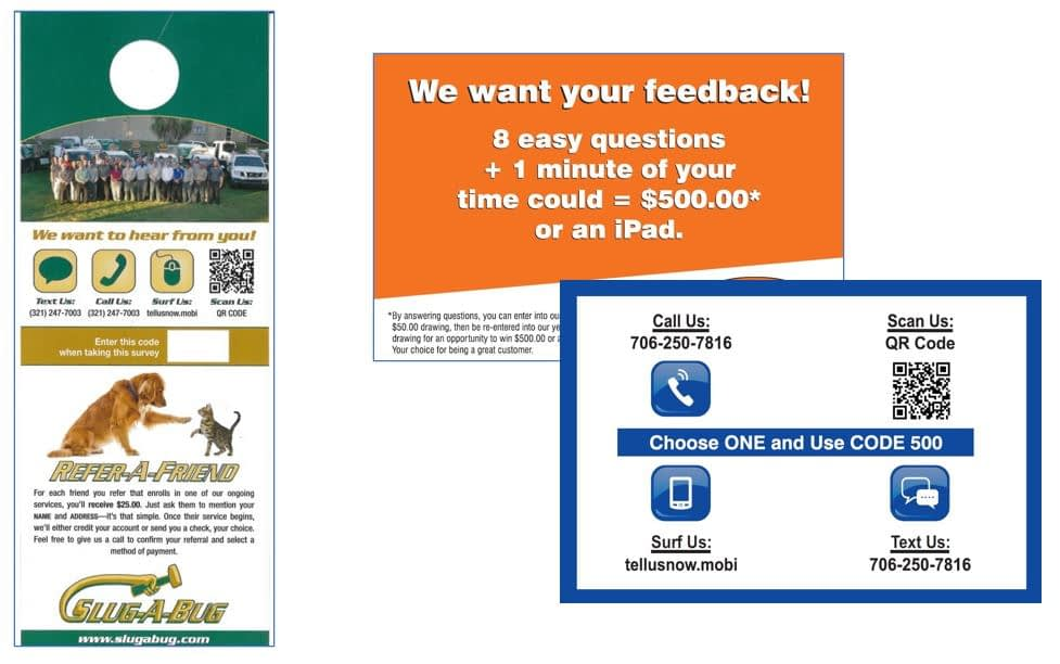 Pest control business request for customer feedback