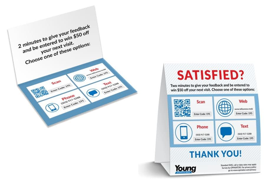 Auto Dealer customer feedback request signs
