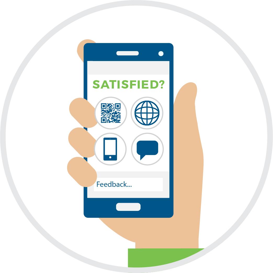 Mobile phone for passenger feedback