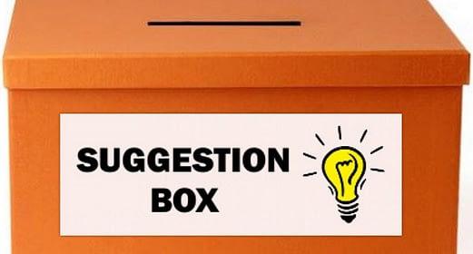 New Suggestion Box