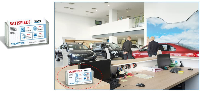 Auto Dealer sales customer feedback postcards
