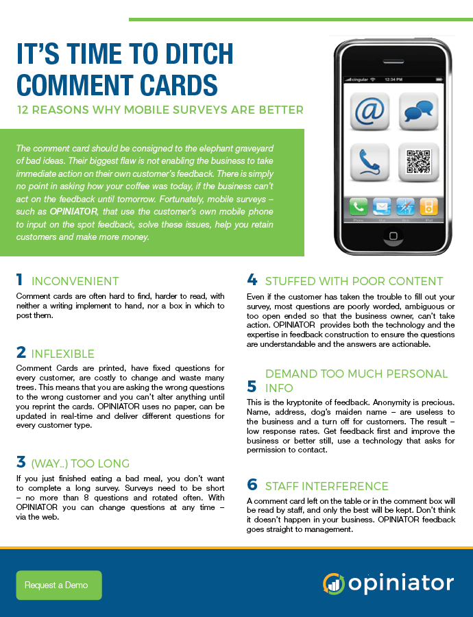 Opiniator stop the comment card flyer