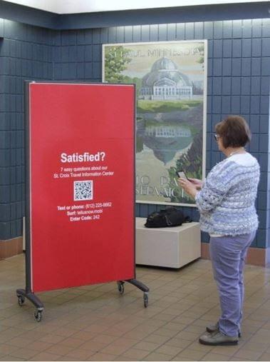 Minnesota rest area visitor feedback indoor sign