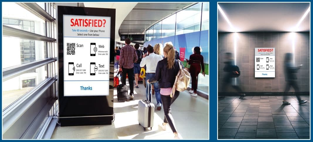 Airport Walkway Signage for Passenger Feedback