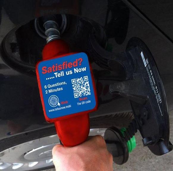 Gasoline feedback on pump nozzle talker