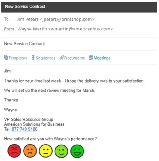 Email Feedback using Smiley Faces
